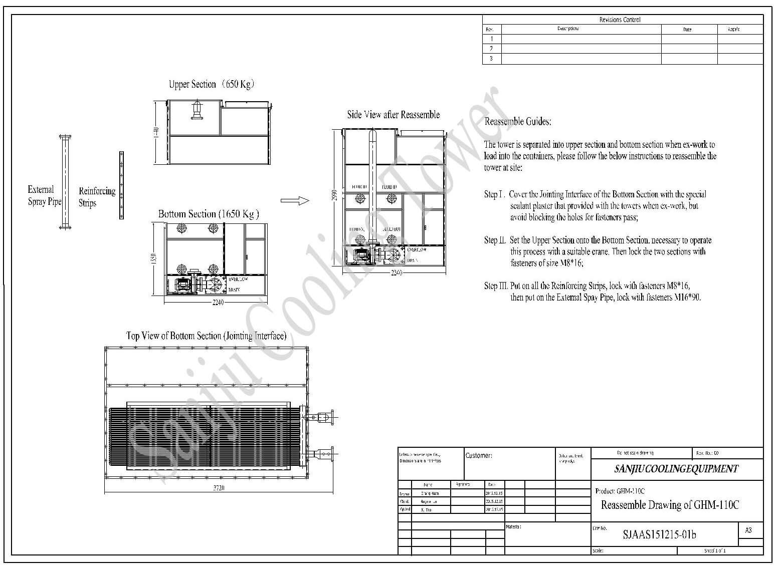 Reassemble Drawing For Cooling Tower